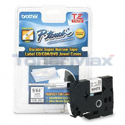 BROTHER TZ TAPE CTG BLACK ON WHITE 1/8IN